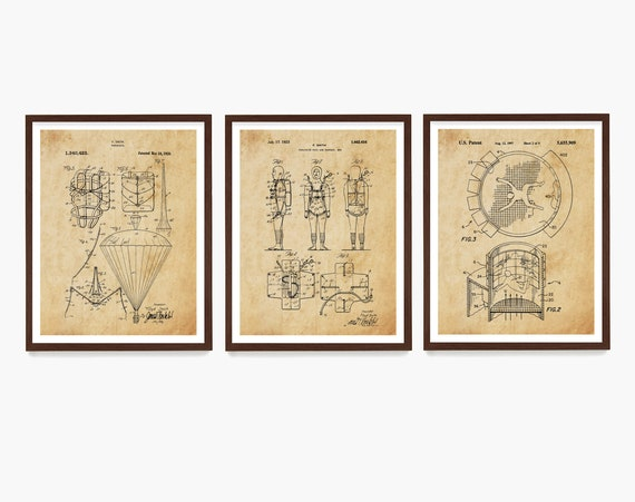 Skydiving Patent Prints, Skydiving Art, Skydiving Poster, Skydiver, Parachute Patent, Parachute Art, Extreme Sports, Skydiving Gift