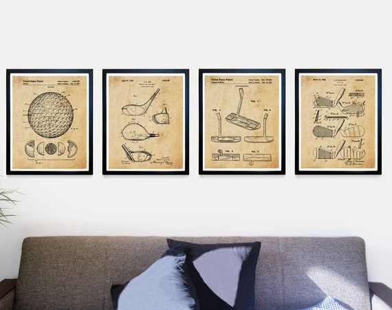Golf Poster, Golf Patent, Golf Gift, Golf Art, Golf Clubs, Golf Balls, Dad Gift, Golf Wall Art, Golf Patent Art, Vintage Golf Art, Golfing