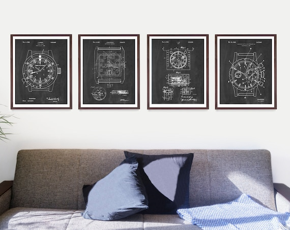 Watch Patent Posters - Watch Art - Rolex Poster - Rolex Watch - Rolex Art - Rolex Wall Art - Time Piece - Wrist Watch - Rolex Patent Art