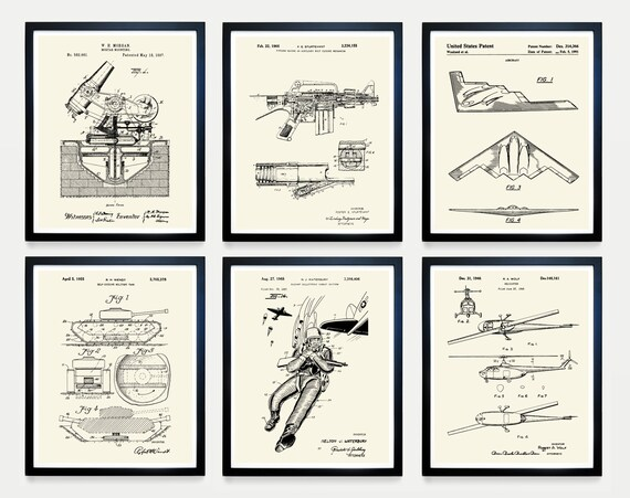 Military Patent Art - Military Art - Military Wall Art - US Army - Air Force - Navy - Military Poster - Military Decor - Military Gift