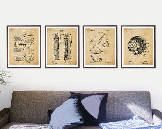 Golf Poster - Golf Patent - Golf Gift - Golf Art - Golf Clubs - Golf Balls - Dad Gift - Golf Wall Art - Golf Patent - Vintage Golf Art