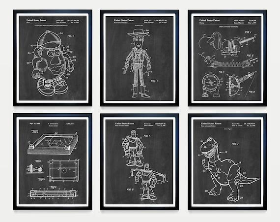 Toy Story Patent Art - Toy Story Art - Toy Story Poster - Buzz Lightyear - Woody - Kids  Mr Potato Head - Toy Patent - Toy Art - Nursery Art
