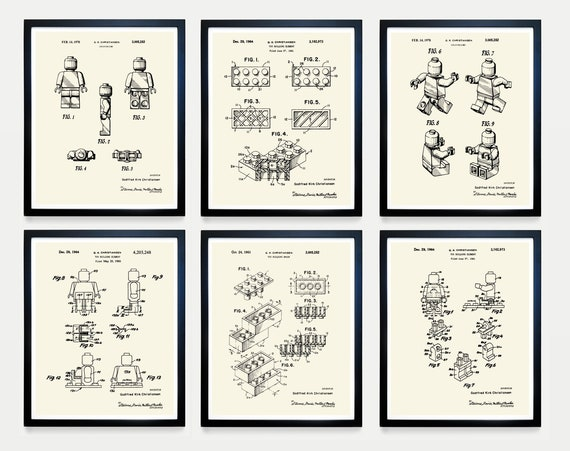 Ultimate Lego Print Collection - Lego Patent Print - Lego Poster - Lego Movie - Lego Movie Poster - Lego Art - Boy's Room Art - Lego