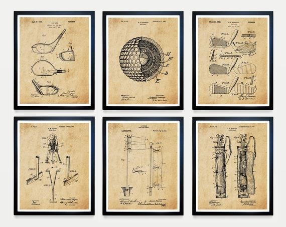Golf Patent Poster - Golf Patent - Golf Art - Golf Poster - Golf Wall Art - Golf Ball Patent - Driver Patent - Golf Gift - Golf Ball