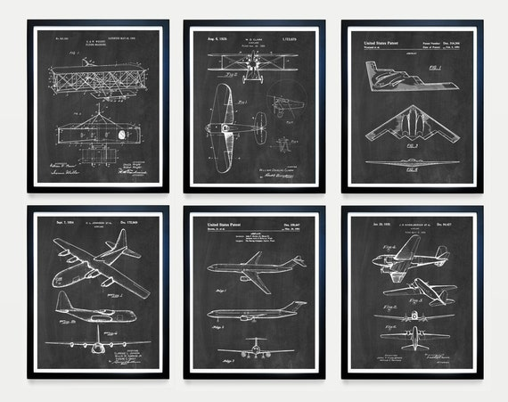 Airplane Patent Art - Airplane Poster - Aviation Wall Art - Pilot - Pilot Gift - Plane - Flying - Airplane Gift - Boeing - Wright Brothers