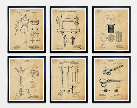 Sewing Patent Art - Sewing Poster - Sewing Machine Patent - Fashion Patent - Fashion poster - Fashion Art - Sewing Art - Sewing Gift - Decor