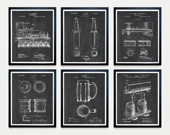 BEER Patent Art - Beer Patent - Beer Poster - Beer Brewing - Beer Decor - Ale - Craft Beer - Home Brew - Home Brewing Art - Beer Wall Art