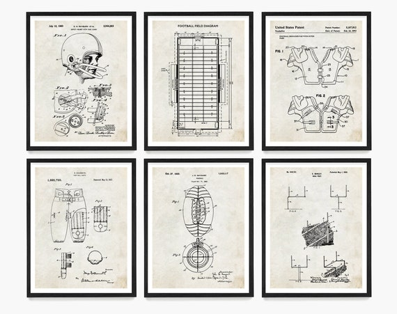 Football Patent Poster, Football Gift, Football Wall Art, Game Room Art, Football Theme, Boys Room Art