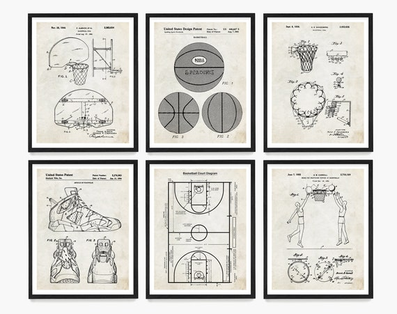 Basketball Patent Art, Basketball Wall Art, Basketball Poster, Basketball Gift, Basketball Coach Gift, Girls Room Wall Art, Boys Room Wall
