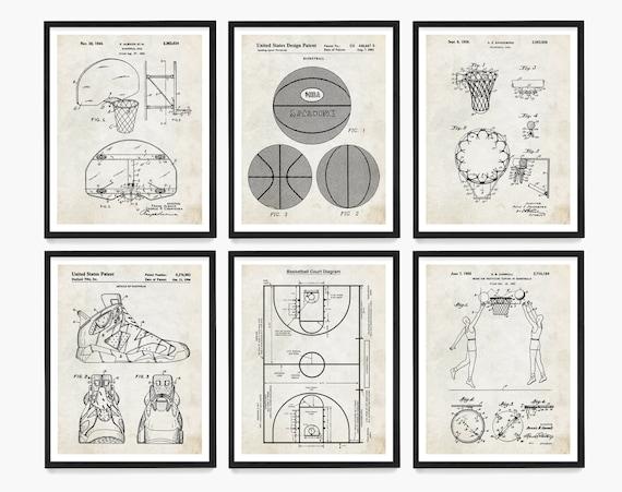 Basketball Patent Art, Basketball Wall Art, Basketball Poster, Basketball Gift, Basketball Coach Gift, Girls Room Wall Art, Boys Room Wall