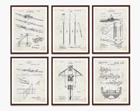 Rowing Patent Art, Crew Art, Crew Poster, Crew Patent, Oar, Scull, Sculling, Rowing Poster, Rowing Wall Art, Crew Wall Art, Rowing Gift