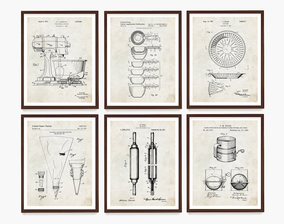 Baking Patent Poster, Baking Art, Baker Gift, Kitchen Poster, Kitchen Patent, Kitchen Wall Art, Cooking Art, Desert Poster, Kitchen Remodel