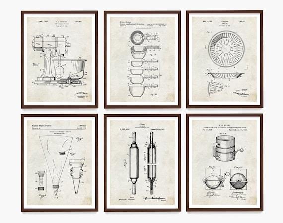 Baking Patent Poster, Baking Art, Baker Gift, Kitchen Poster, Kitchen Patent, Kitchen Wall Art, Cooking Art, Desert Poster, Kitchen Remodel
