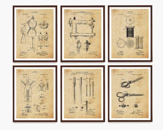 Sewing Patent Art, Sewing Poster, Sewing Machine Patent, Fashion Patent, Fashion poster, Seamstress, Fashion Designer, Sewing Gift