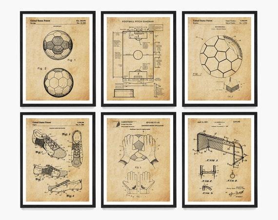 Soccer Patent Art - Soccer Poster - Soccer Gift - Soccer Ball Patent - Soccer Field - Soccer Pitch - Football Wall Art - Soccer Wall Art