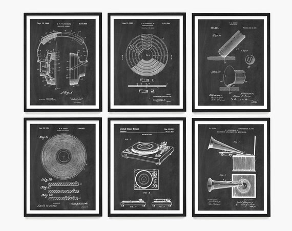 Record Player Patent, Stereo HI FI, Turntable Patent, Music Art, Record Player, Music Poster, Music Patent, Vinyl Art, Vinyl Patent