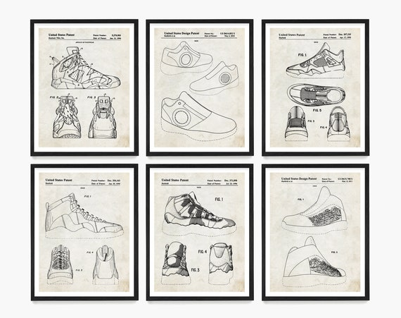 Basketball Shoe Patent Poster, Sneaker Patent, Basketball Patent Poster, Basketball Sneaker Patent, Basketball Gift, Sneaker head Gift