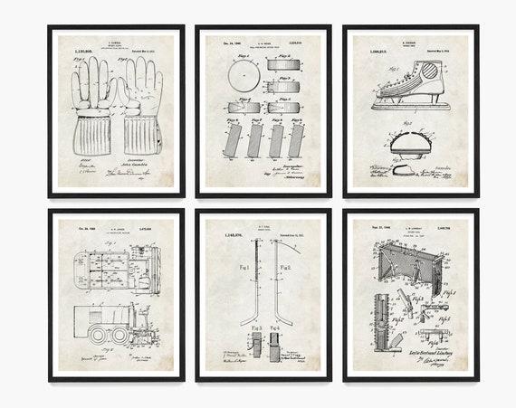 Hockey Patent Art, Hockey Art, Hockey Wall Art, Ice Hockey, Hockey Patent, Hockey Sticks, Hockey Puck, Vintage Hockey, Hockey Gift