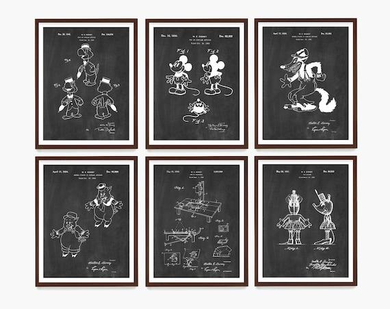 Walt Disney Patent Art, Mickey Mouse Art, Mickey Mouse Patent, Disney Patent, Disney Art, Disney Poster, Animation, Animation Art