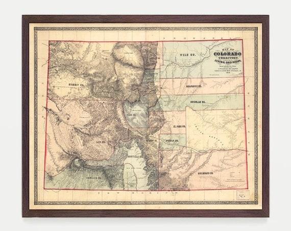 Colorado Map, CO Map, Map Art, Map Decor, State Map, Colorado Art , Colorado Decor, Springs, Denver Map City Map, Colorado Poster
