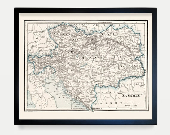 Austria Map, Vintage Austria, Austria Art, Austria Wall Art, Austrian Map, Europe Map, European Map, Europe Art, Vienna, Vienna Map, Map Art
