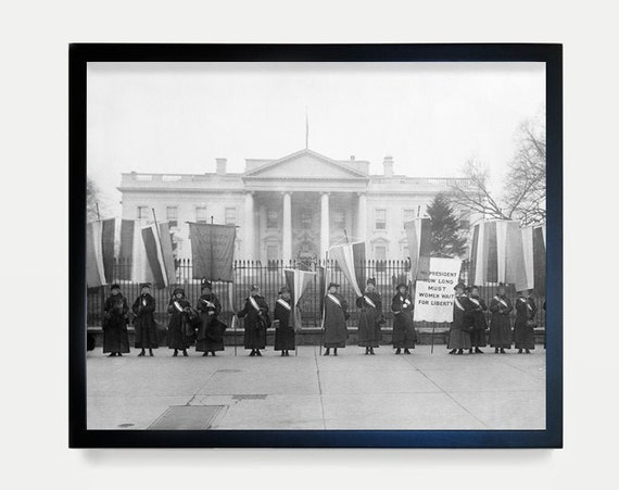 Suffragettes Picketing the White House - 1917 - Washington DC - Women's Rights - Art Photography - Capitol - Washington DC Art - Suffragette