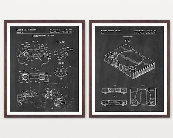 Playstation Patent Poster, Video Game Art, Video Game Poster, Playstation, Boys Room Poster, Video Game Wall Art, Playstation Gift