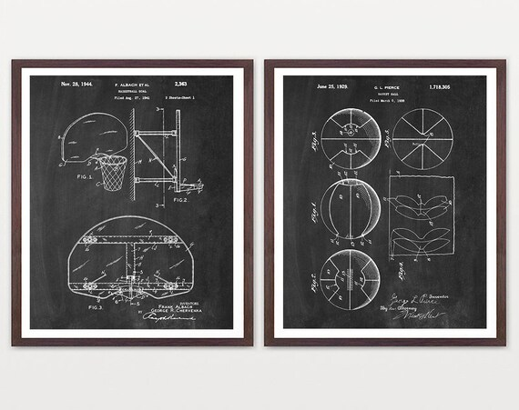 Basketball Wall Art - Basketball Patent Art - Basketball Poster - Basketball Art  - Boys Room Wall Art - Boys Room - Basketball Gift