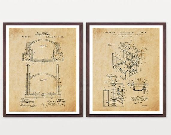Pottery Patent Art - Pottery Wheel - Kiln - Pottery Art - Pottery Poster - Pottery Wall Art - Potter - Kiln Poster - Kiln Patent - Clay