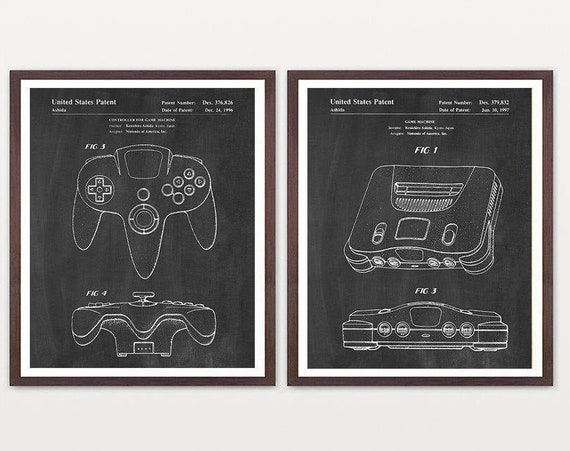 Nintendo Art - Nintendo Patent - Nintendo Poster - Video Game - Video Game Poster - Video Game Patent - Atari Wall Art - Gamer  Boy Room Art