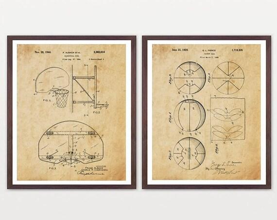 Basketball Wall Art - Basketball Patent Print - Basketball Poster - Basketball Art - Boys Room Wall Art - Boys Room - Basketball Gift