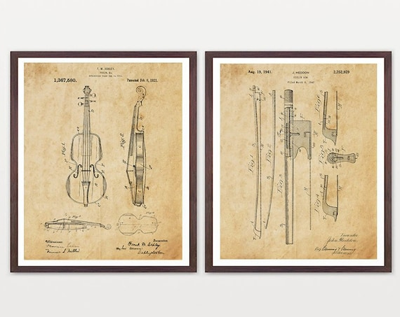 Violin Patent Posters - Violin Art - Violin Poster - Violin Wall Art - Orchestra - Classical Music Art - Classical Music Poster - Fiddle