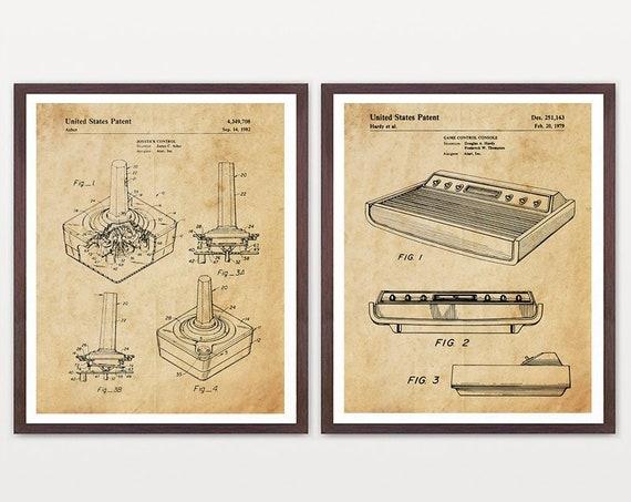 Atari Art - Atari Patent - Atari Poster - Video Game - Video Game Poster - Video Game Patent - Atari Wall Art - Gamer - Boys Room Art  Retro