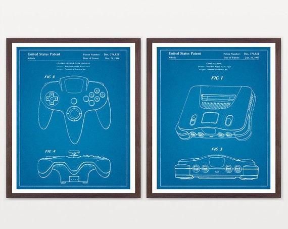 Nintendo Art - Nintendo Patent - Nintendo Poster - Video Game - Video Game Poster - Video Game Patent - Atari Wall Art - Gamer  Boy Room Art