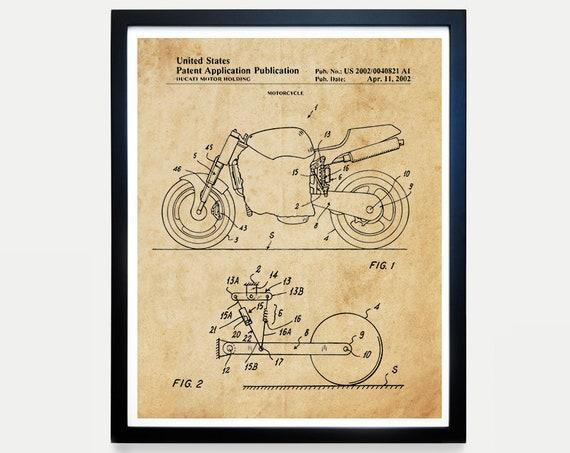 Ducati Patent Art - Ducati Poster - Ducati Art - Ducati Motorcycle - Motorcycle Art - Motorcycle Patent Art - Motorcycle Poster - Bike - Art