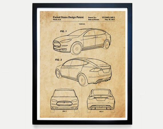 Tesla Model X Patent, Tesla Motors, Tesla Patent, Tesla Art, Tesla Poster, Electric Car, Electric Vehicle, Elon Musk, Tesla Wall Art, Gift