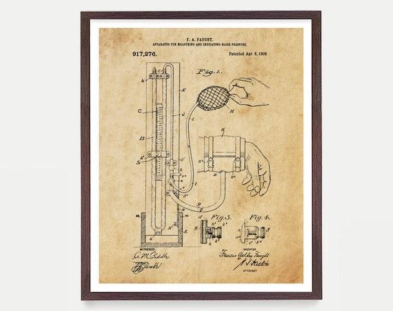 Doctor Blood Pressure Patent - Doctor - Doctor Poster - Doctors Office - Doctors office Art - Doctor Art - Physician - Medical Poster - EMT