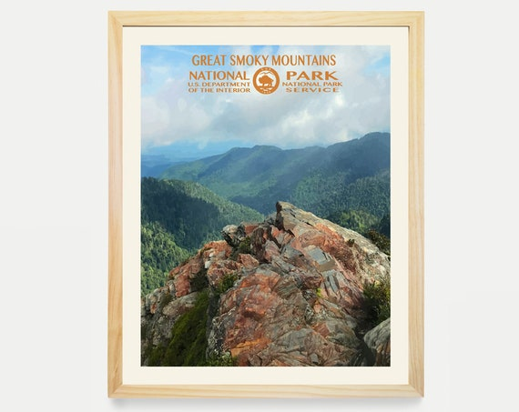 Great Smoky Mountains National Park Poster- Great Smoky Mountains Poster - National Park Art - WPA Poster WPA Art - Smoky Mountains Art