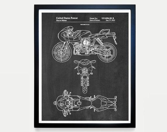 Ducati Patent Art, Ducati Poster, Ducati Art, Ducati Motorcycle, Motorcycle Art, Motorcycle Patent Art, Motorcycle Poster, Bike Art