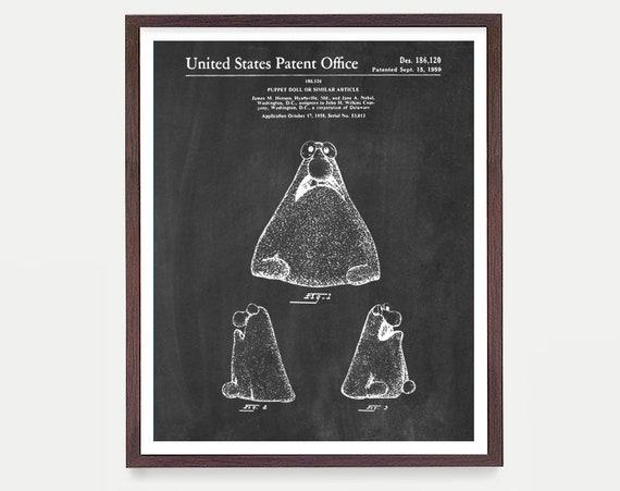 Jim Henson - Muppet Patent - Muppets - Sesame Street - Sesame Street Patent - Jim Henson Art - Jim Henson Poster - Muppet Wall Art - Puppet