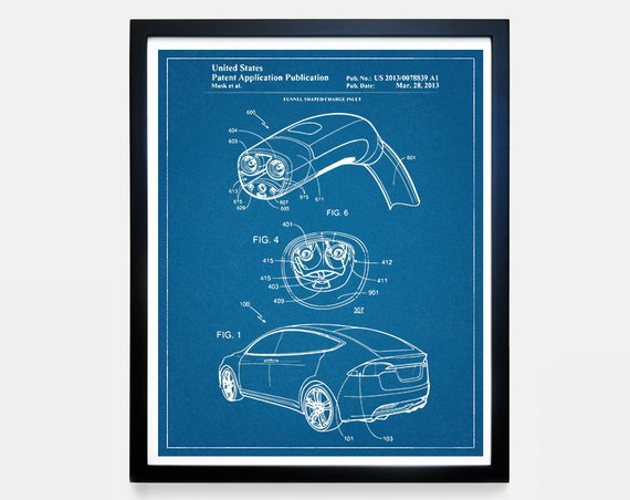 Tesla Model X Patent - Tesla Motors - Tesla Patent - Tesla Art - Tesla Poster - Electric Car - Electric Vehicle - Elon Musk - Tesla Wall Art