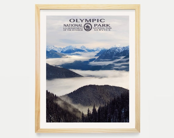 Olympic National Park Poster - National Park Poster - National Park Art - WPA Poster WPA Art - Washington State Art - Washington Poster