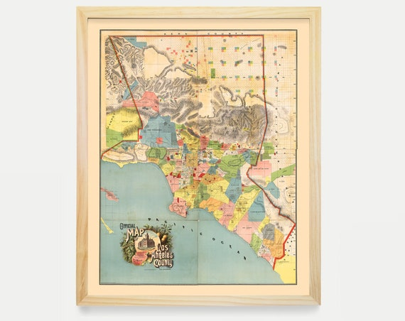 Los Angeles Map - LA Map Art - Map Decor - California Map - Los Angeles Art - Los Angeles Decor - Los Angeles Wall Art - Los Angeles -