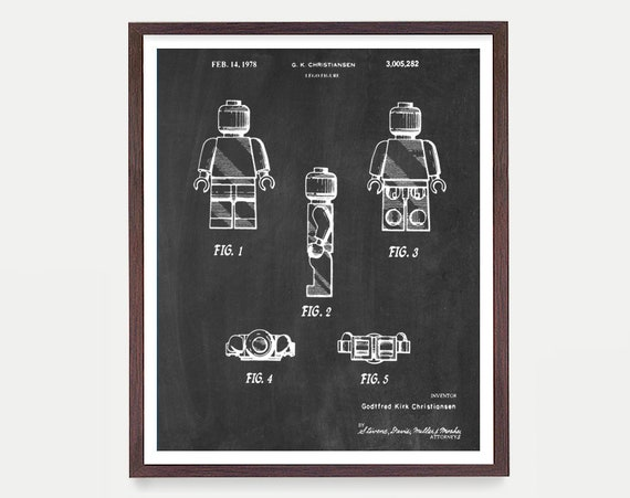 Lego Patent - Lego Movie Poster - Lego Art - Lego Movie - Lego Poster - Boys Room Art - Boys Room Poster - Toy Patent - Kids Art
