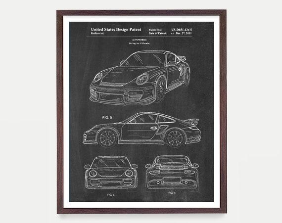 Porsche - Porsche Patent - Porsche Patent Print - Classic Cars - Car Patent - Carrera - Carrera Patent - Porsche Art - Car Art - Canvas Art