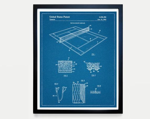 Tennis Poster - Tennis Court - Tennis Art - Tennis Court Patent - Tennis Patent Art - Tennis Patent - Tennis Court Poster - Tennis Court Art