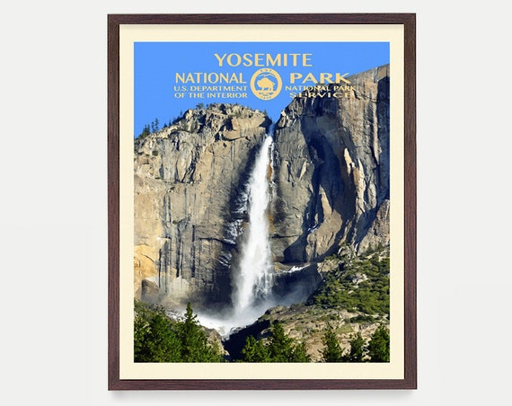 Yosemite National Park - Yosemite Poster - Yosemite National Park Art - National Park Poster - WPA - WPA Poster  WPA Art - Half Dome Poster