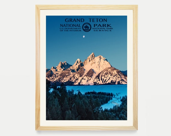 Grand Teton National Park, Grand Teton Poster, National Park Art, WPA, WPA Poster, WPA Art, Grand Teton Art, Grand Teton Wpa, Wyoming