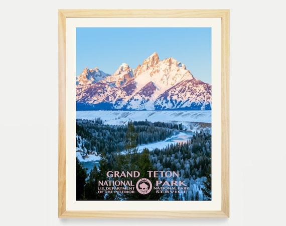 Grand Teton National Park - Grand Teton Poster - National Park Art - WPA - WPA Poster WPA Art - Grand Teton Art - Grand Teton Wpa - Wyoming