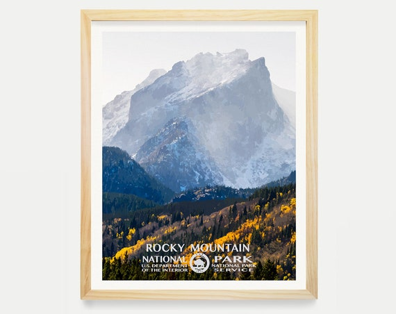 Rocky Mountain National Park Poster - Rocky Mountain National Park Poster - National Park Art - WPA - WPA Poster WPA Art - Rocky Mountains